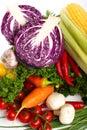 Different Raw Vegetables Backg...