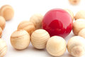 Different red ball. Royalty Free Stock Images