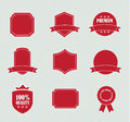 Different red tags over white background vector illustration Stock Images