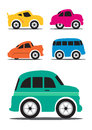 Different retro vintage car cartoon vector illustration Royalty Free Stock Images