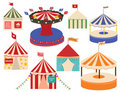 Different sets of circus big tops. Royalty Free Stock Photo