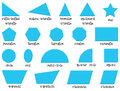 Different shapes illustration of the on a white background Stock Photo