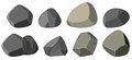 Different shapes of rocks
