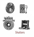 Different shutters for atelier cameras in use at the end of XIX