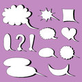 Different speech bubbles balloons Royalty Free Stock Photography