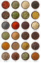 Different Spices Isolated On W...