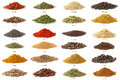 Different spices isolated on white background. Royalty Free Stock Photo