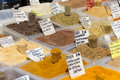 Different spices on a market in Greece Royalty Free Stock Photo