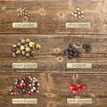Different spices Royalty Free Stock Photo