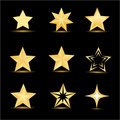 Different stars Royalty Free Stock Photos