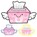 Title: Different styles of facial tissues Sets. Household Items Vector