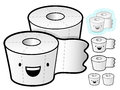Different styles of tissue paper sets household items vector ic icon series Royalty Free Stock Photos