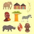 Different Symbols Of Africa Royalty Free Stock Photo