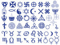 Different symbols created by mankind Royalty Free Stock Photo