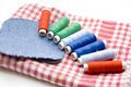 Different thread rolls Stock Image