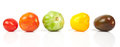 Different tomatoes shapes and colors Royalty Free Stock Photo