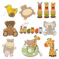 Different toys items for baby Royalty Free Stock Photos