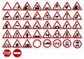 Different traffic signs Royalty Free Stock Images