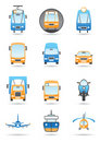 Different transportation mashines Stock Image