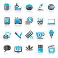 Different types of addictions icons vector icon set Stock Images