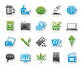 Different types of addictions icons vector icon set Royalty Free Stock Images