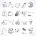 Different types of Addictions icons Royalty Free Stock Photo