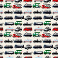 Different types car seamless pattern Royalty Free Stock Photos