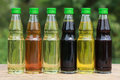 Different types of cooking oil Stock Photos