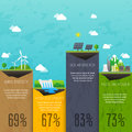 Different types of electricity generation. Landscape and industr