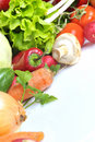 Different types of Fresh vegetables Stock Photo