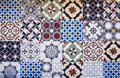 Different types of many Mediterranean / Aegean tiles. Royalty Free Stock Photo