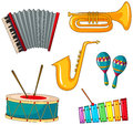 Different types of musical instrument
