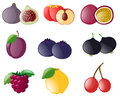 Different types of tropical fruits Royalty Free Stock Photo