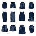 Tipos de mujeres Faldas