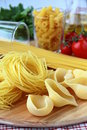 Different varieties of Italian pasta Royalty Free Stock Images