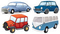 Different vehicle styles illustration of a on a white background Royalty Free Stock Photo