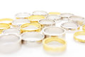 Different wedding rings Stock Photography