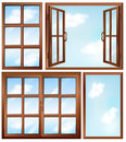Different window designs illustration of the on a white background Royalty Free Stock Image