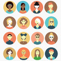 Different women vector set collection Royalty Free Stock Photo