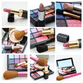 Different xl images cosmetics and make up Royalty Free Stock Photos