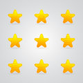 Different yellow star icons set Stock Photo