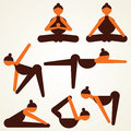 Different yoga pose stock Stock Photography