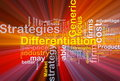 Differentiation strategies background Stock Photo