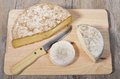 Differents cheeses of savoie in french alpes Royalty Free Stock Photo