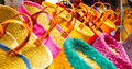 Differents kinds of colored bags Royalty Free Stock Images