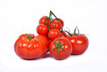 Differents tomatoes Royalty Free Stock Photo