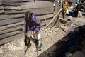 Difficult living with disability kenyan slum nairobi kenya capital city a disabled woman during her arduous journey through the Stock Photography