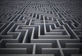 Difficult maze dark grey puzzle Stock Photography