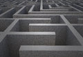 Difficult maze dark grey puzzle Stock Images