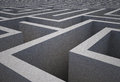 Difficult maze dark grey puzzle Royalty Free Stock Photo